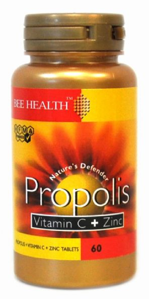 Bee Health PROPOLIS Vitamin C + Zinc 60 Tablets